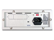 P9611A Mixed Mode Power Supply Back - Bumpers, USB and GPIB Interfaces are optional.